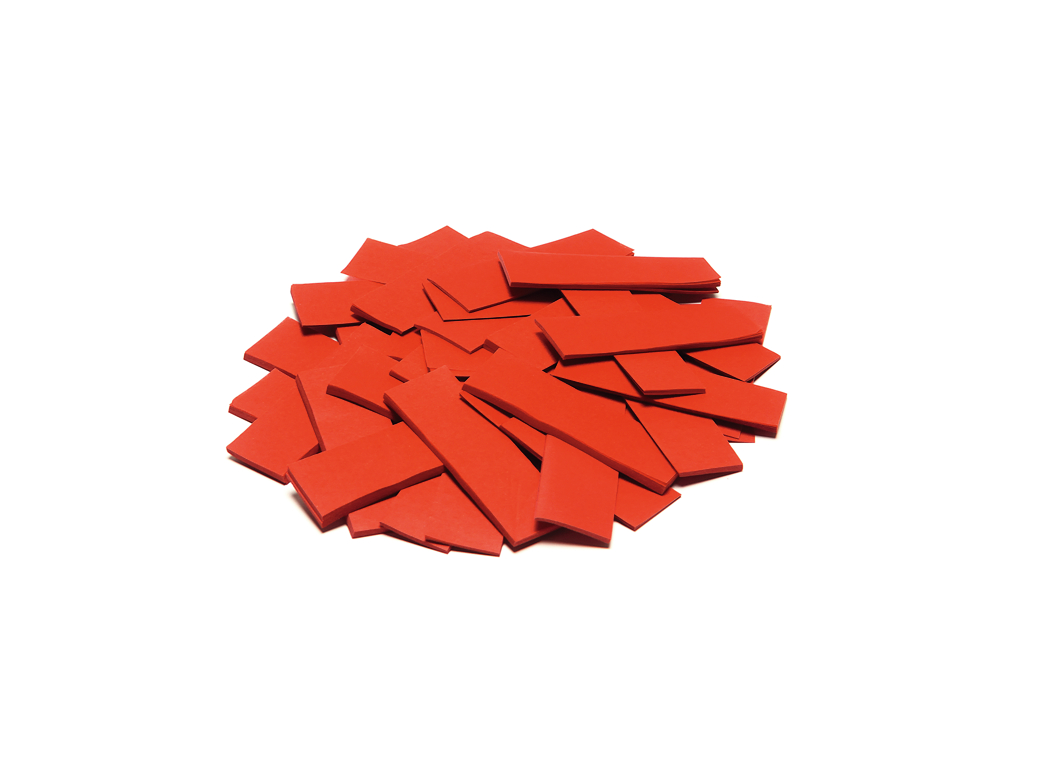 Tcm Fx pomalu padající obdélníkové konfety 55x18mm, červené, 1kg