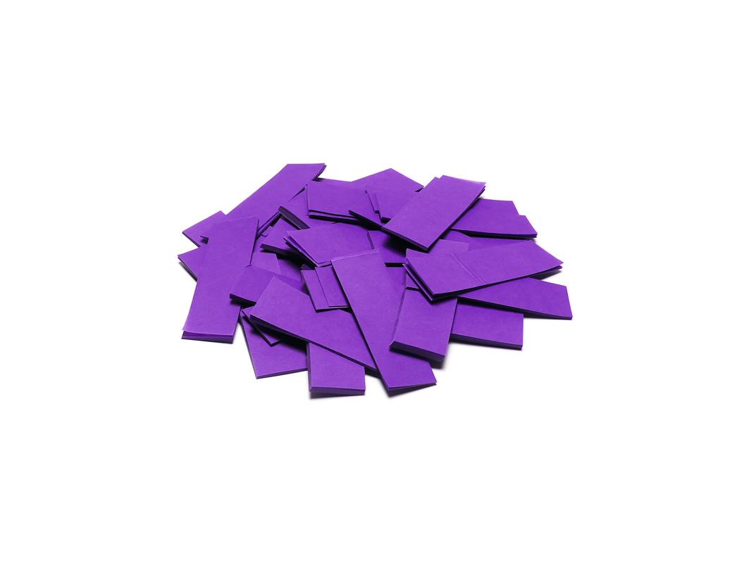 Tcm Fx pomalu padající obdélníkové konfety 55x18mm, fialové, 1kg