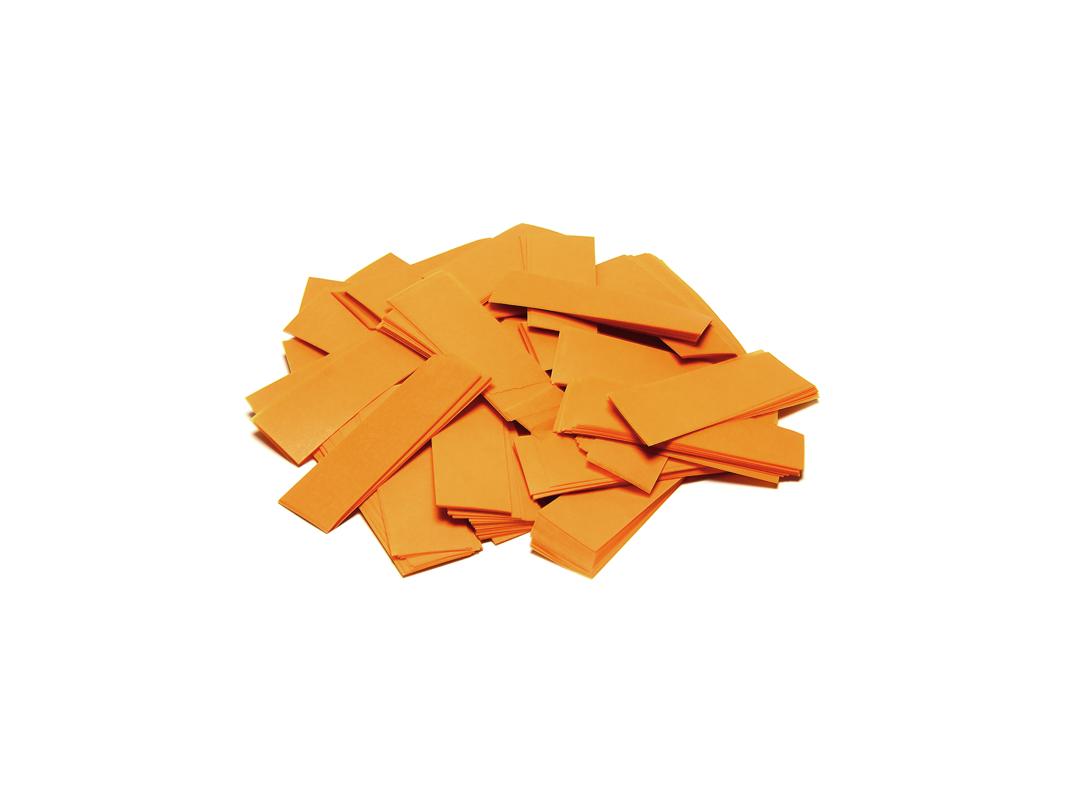 Tcm Fx pomalu padající obdélníkové konfety 55x18mm, oranžové, 1kg