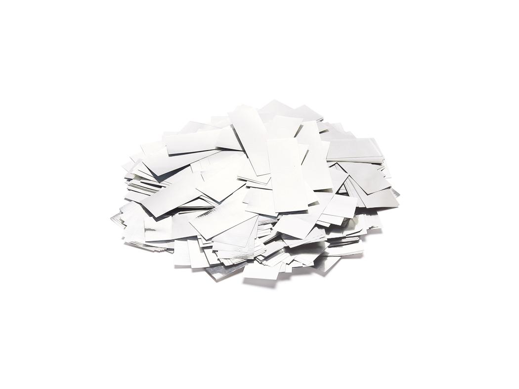 Tcm Fx metalické obdélníkové konfety 55x18mm, bílé, 1kg