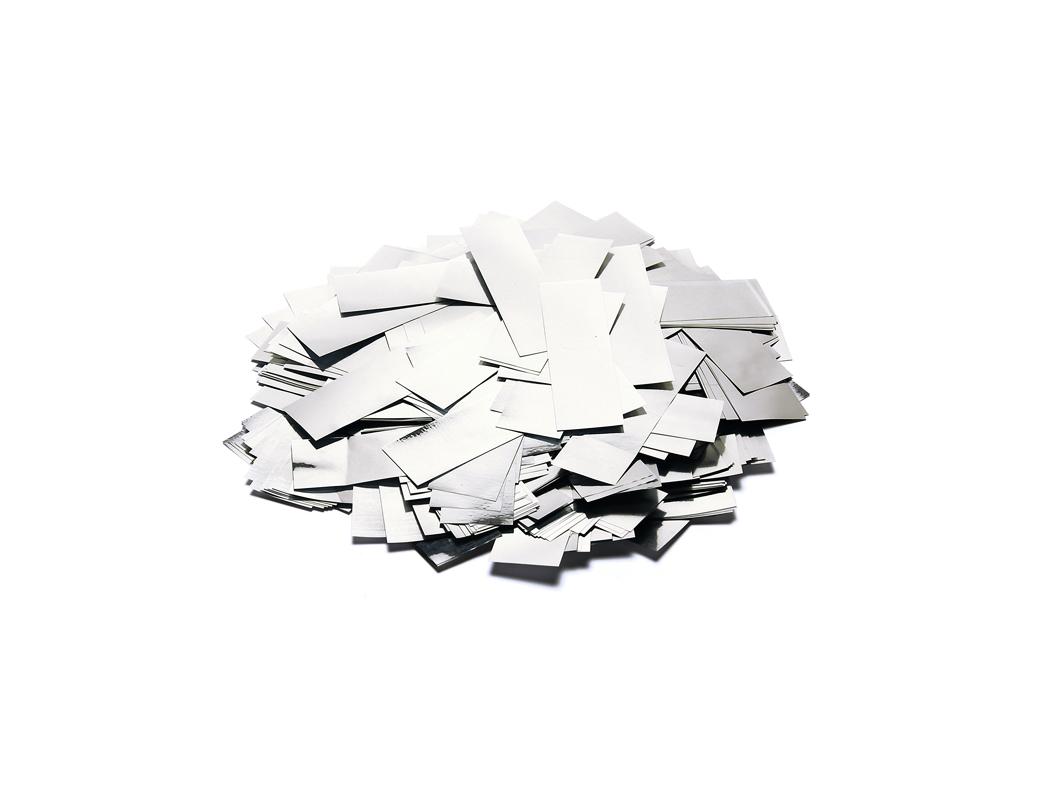 Tcm Fx metalické obdélníkové konfety 55x18mm, stříbrné, 1kg
