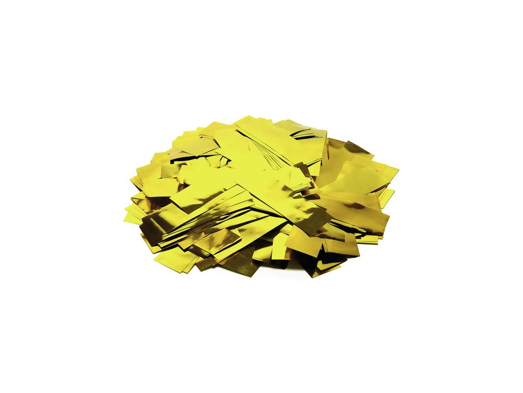 Tcm Fx metalické obdélníkové konfety 55x18mm, zlaté, 1kg