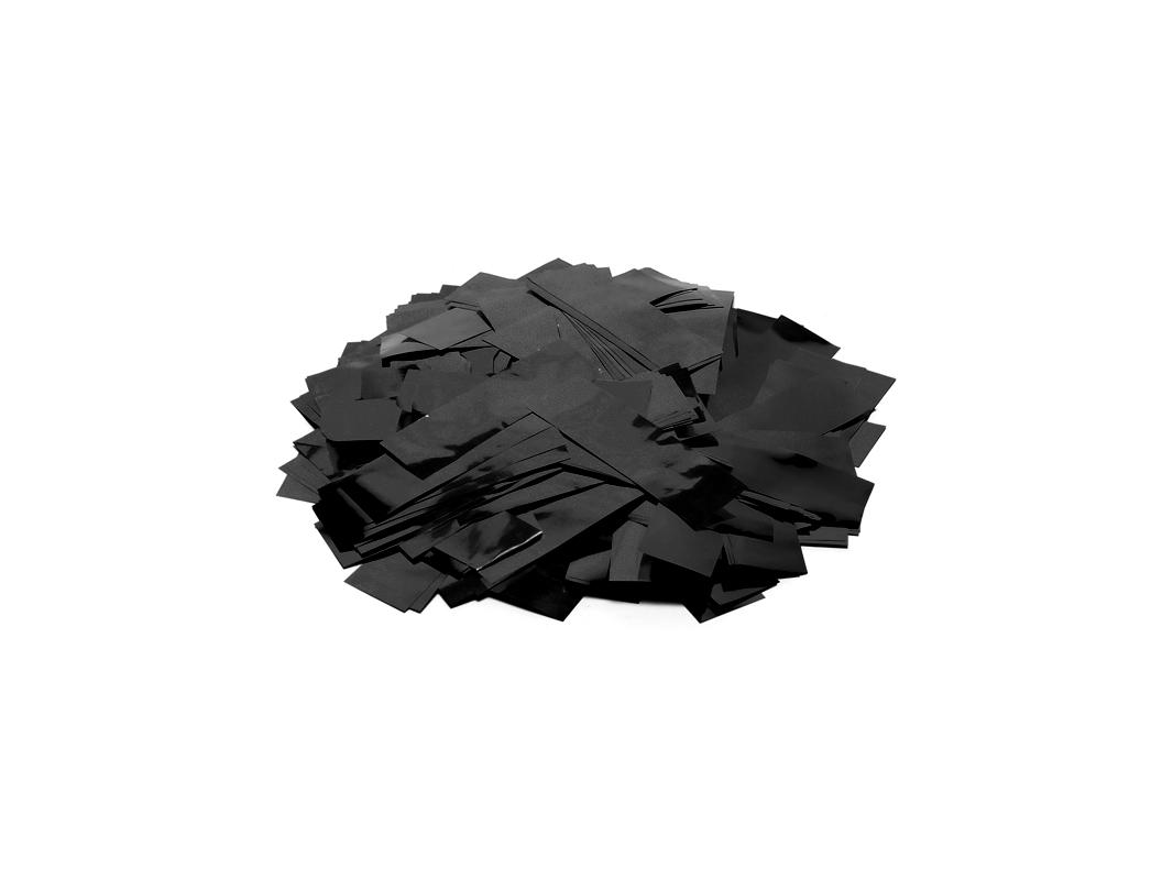Tcm Fx metalické obdélníkové konfety 55x18mm, černé, 1kg