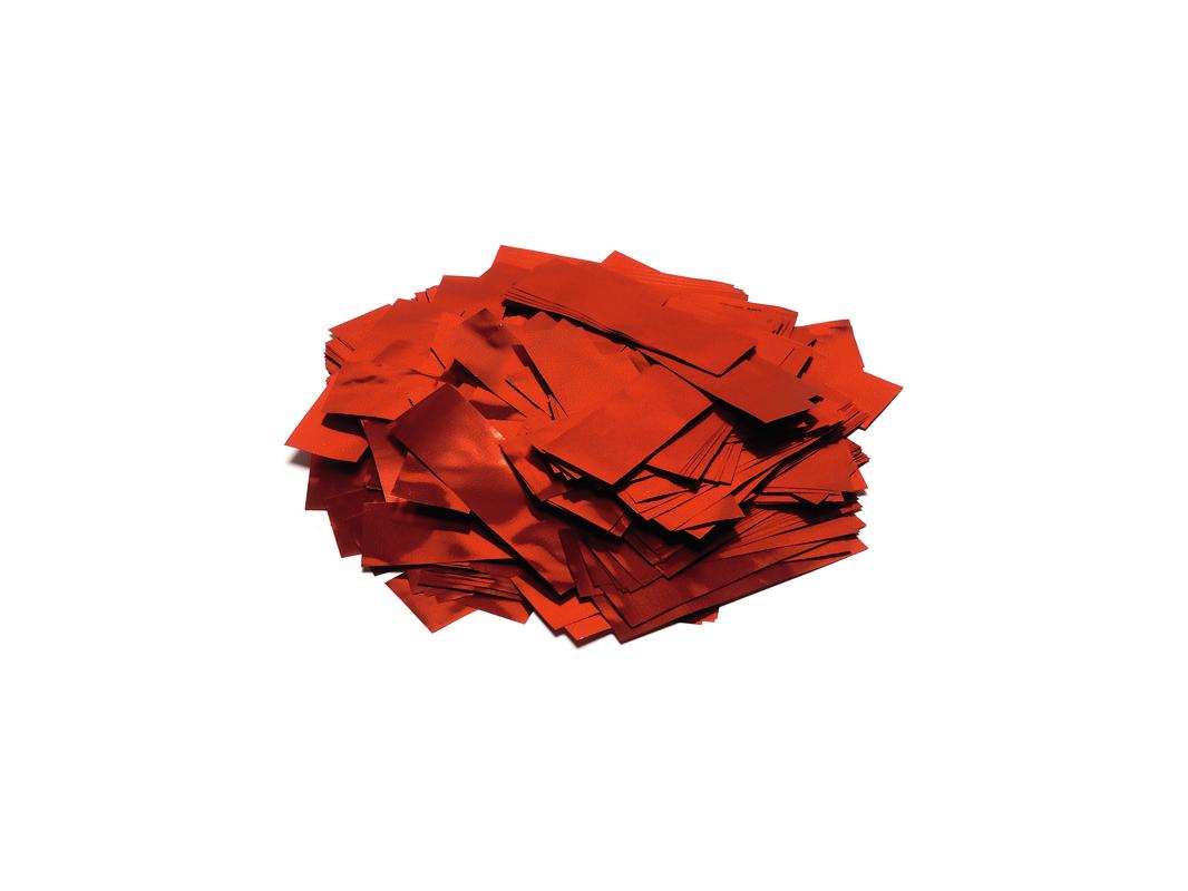 Tcm Fx metalické obdélníkové konfety 55x18mm, červené, 1kg