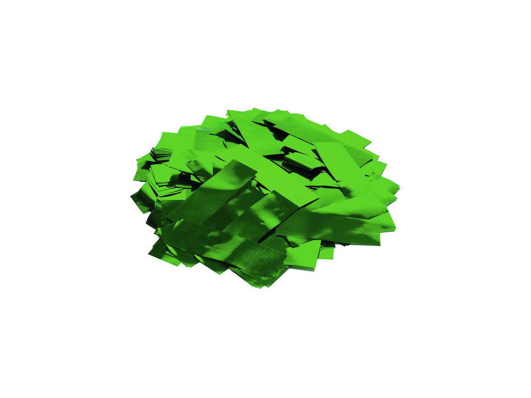 Tcm Fx metalické obdélníkové konfety 55x18mm, zelené, 1kg