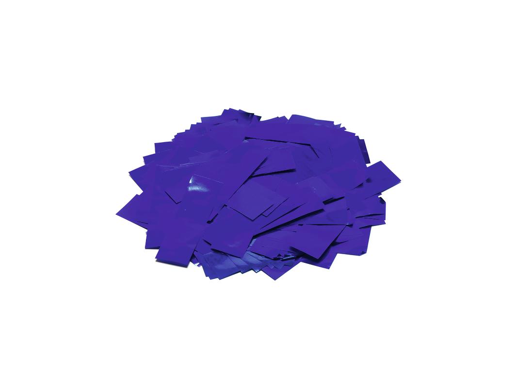 Tcm Fx metalické obdélníkové konfety 55x18mm, modré, 1kg