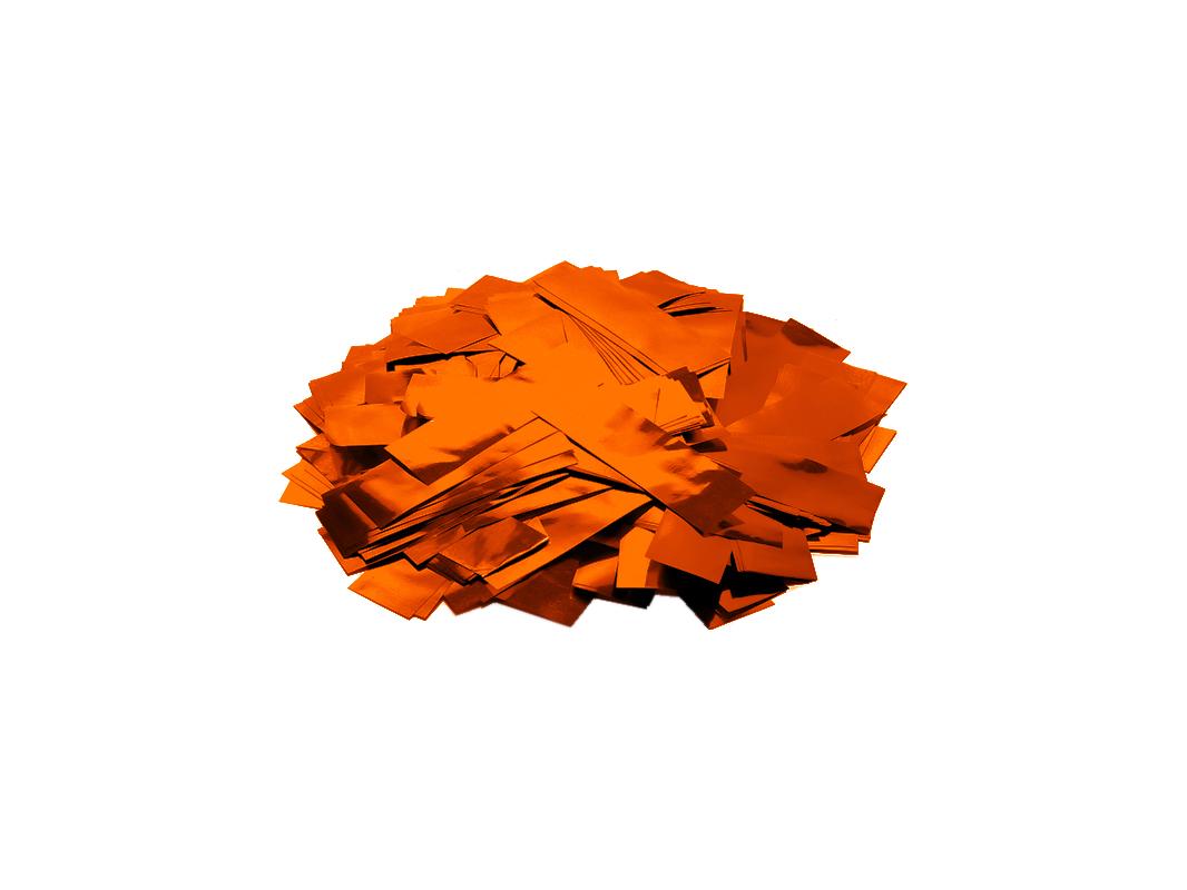 Tcm Fx metalické obdélníkové konfety 55x18mm, oranžové, 1kg