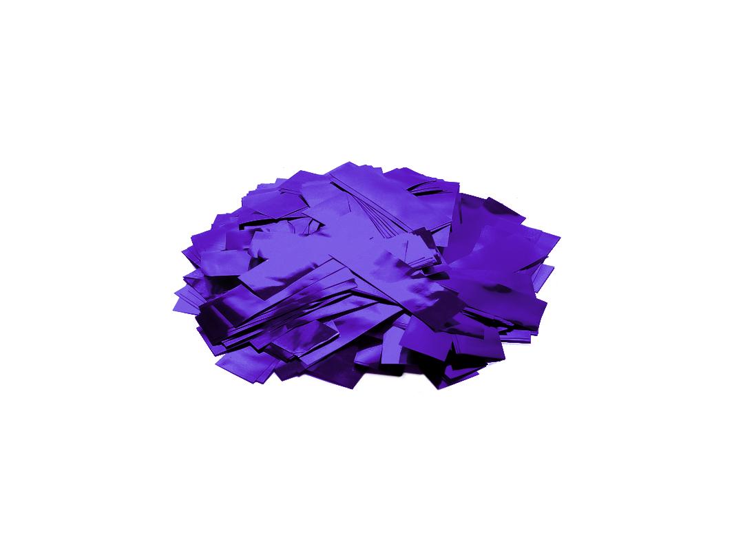 Tcm Fx metalické obdélníkové konfety 55x18mm, fialové, 1kg
