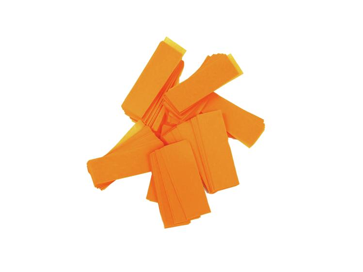 Tcm Fx pomalu padající obdélníkové konfety 55x18mm, neonové-oranžo