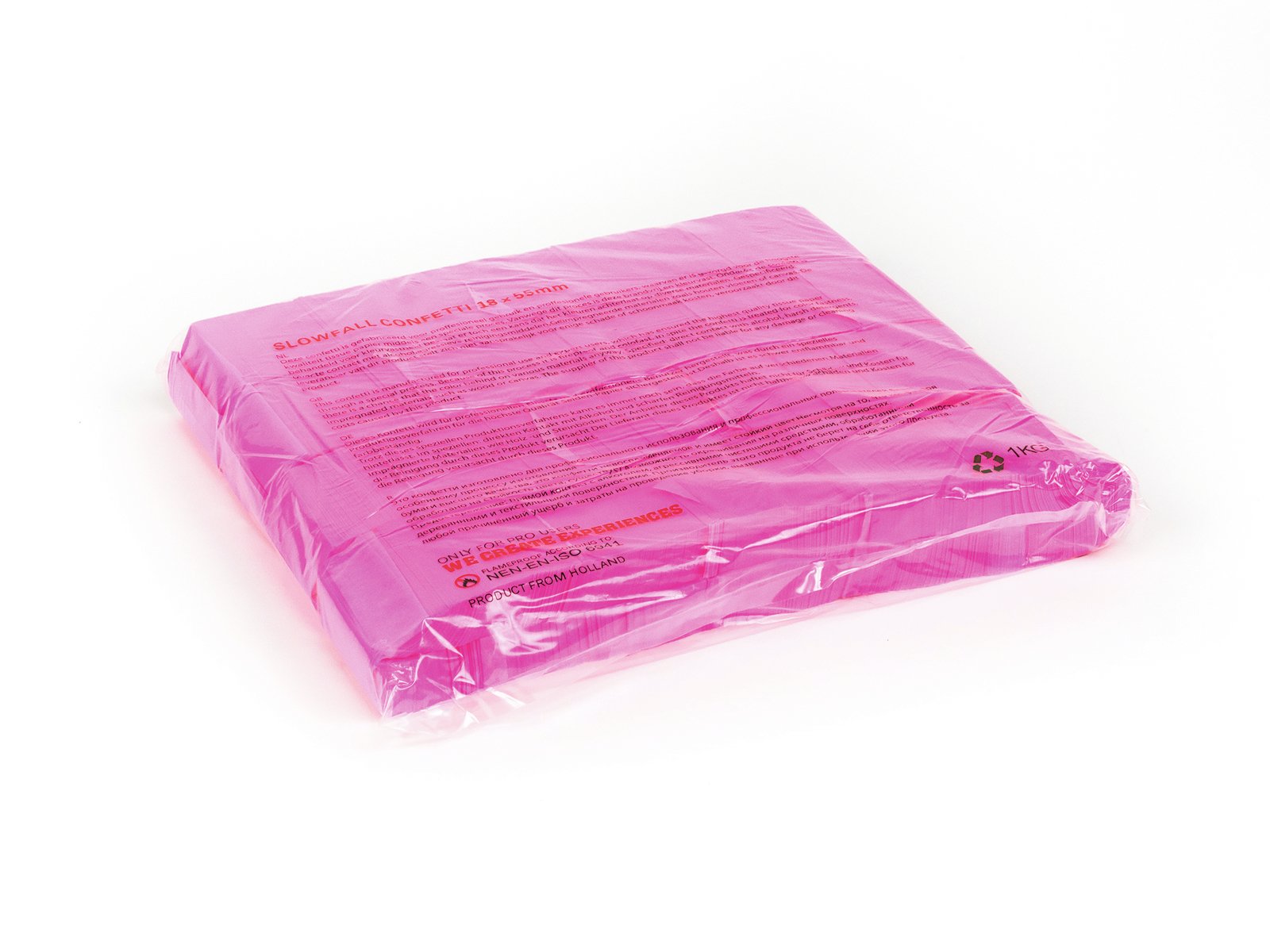 Tcm Fx pomalu padající obdélníkové konfety 55x18mm, neonové-růžové