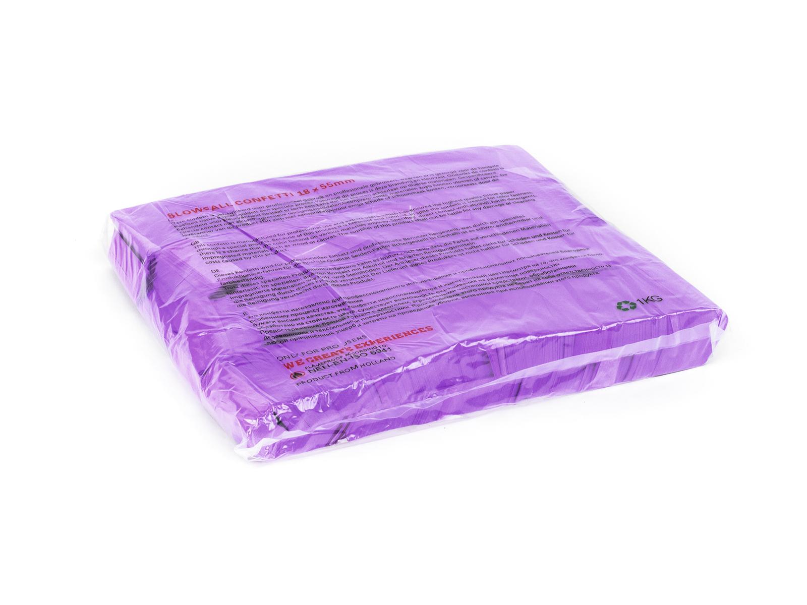 Tcm Fx pomalu padající obdélníkové konfety 55x18mm, neonové-fialov