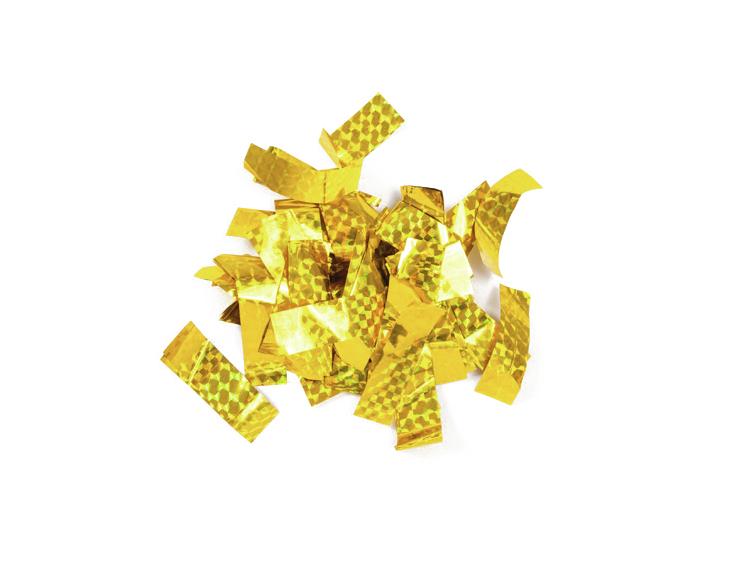 Tcm Fx metalické obdélníkové konfety 55x18mm, zlaté, laser efect