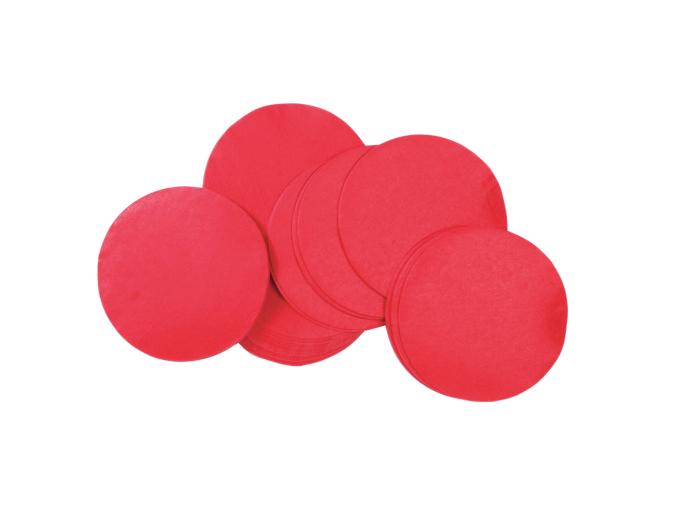 Tcm Fx pomalu padající kulaté konfety 55x55mm, červené, 1kg