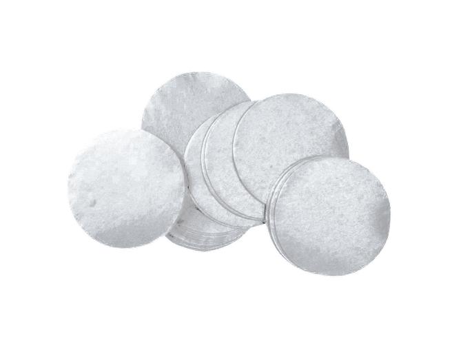 Tcm Fx pomalu padající kulaté konfety 55x55mm, stříbrné, 1kg