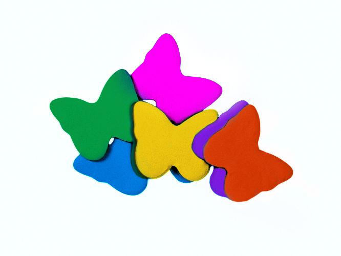 Tcm Fx pomalu padající konfety, motýlci 55x55mm, barevné, 1kg