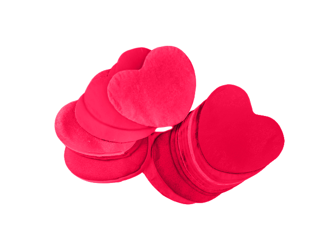 Tcm Fx pomalu padající konfety, srdíčka 55x55mm, červené, 1kg