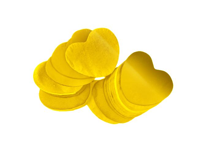 Tcm Fx metalické konfety, srdíčka 55x55mm, zlaté, 1kg