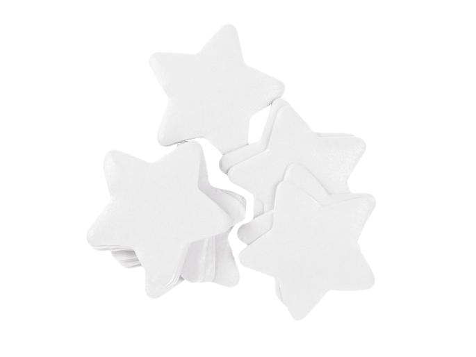 Tcm Fx pomalu padající konfety, hvězdičky 55x55mm, bílé, 1kg