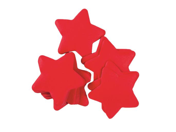 Tcm Fx pomalu padající konfety, hvězdičky 55x55mm, červené, 1kg