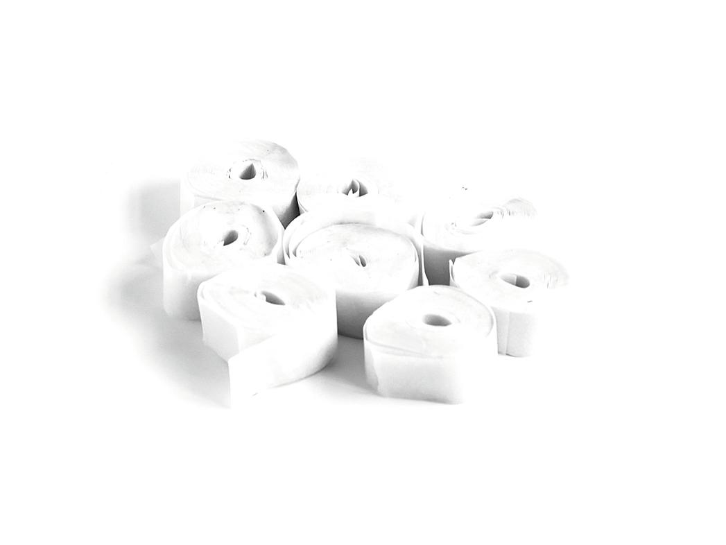 Tcm Fx pomalu padající konfety-serpentýny 5mx0.85cm, bílé, 100x