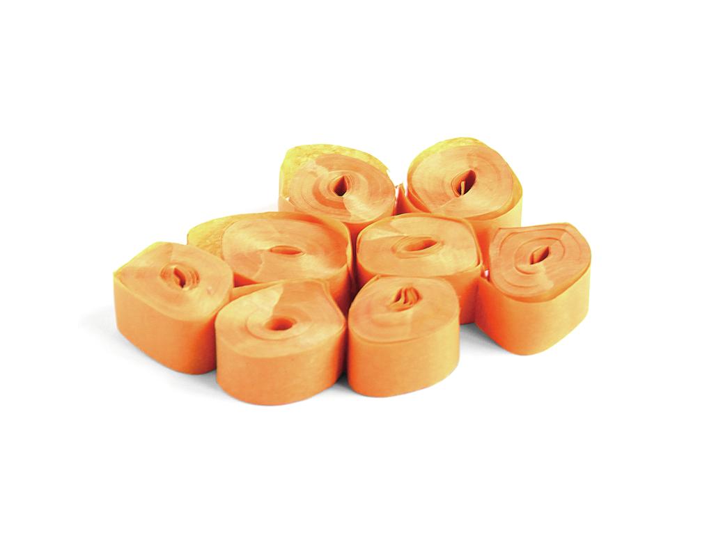 Tcm Fx pomalu padající konfety-serpentýny 5mx0.85cm, oranžové, 100x