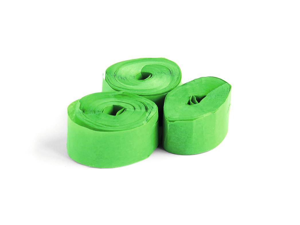 Tcm Fx pomalu padající konfety-serpentýny 10mx1.5cm, tmavě zelené, 32x