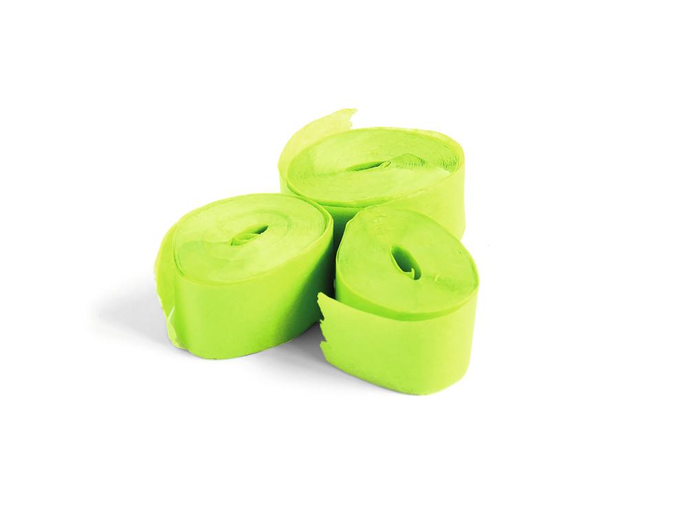 Tcm Fx pomalu padající konfety-serpentýny 10mx1.5cm, světle zelené, 32x