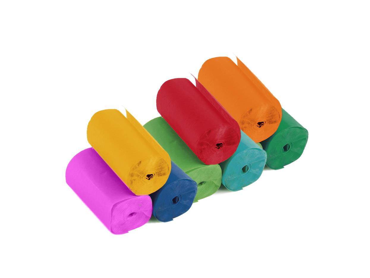 Tcm Fx pomalu padající konfety-serpentýny 10mx5cm, barevné, 10x