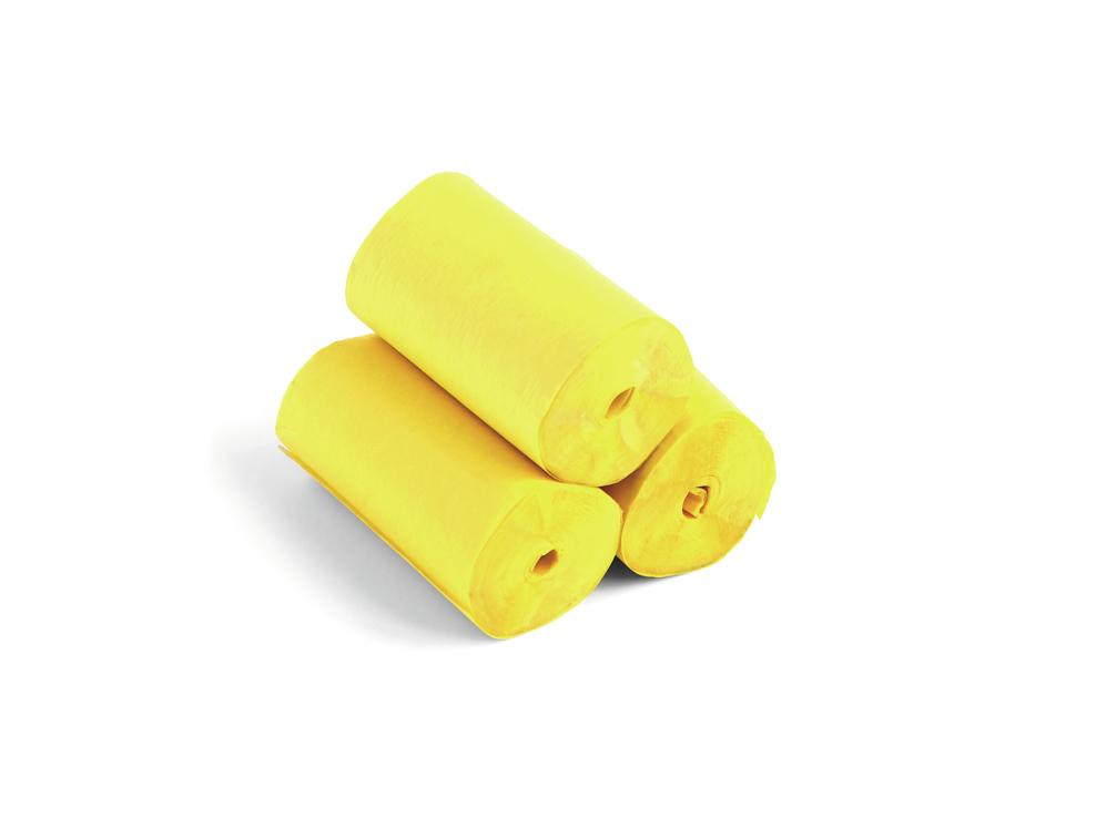 Tcm Fx pomalu padající konfety-serpentýny 10mx5cm, žluté, 10x