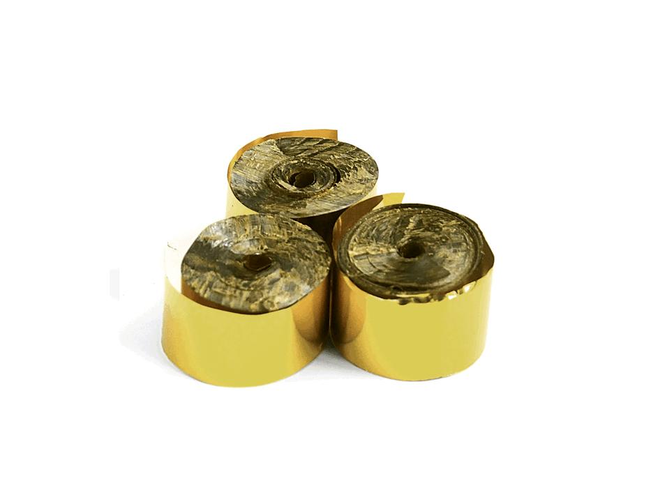 Tcm Fx metalické konfety-serpentýny 5mx0.85cm, zlaté, 100x