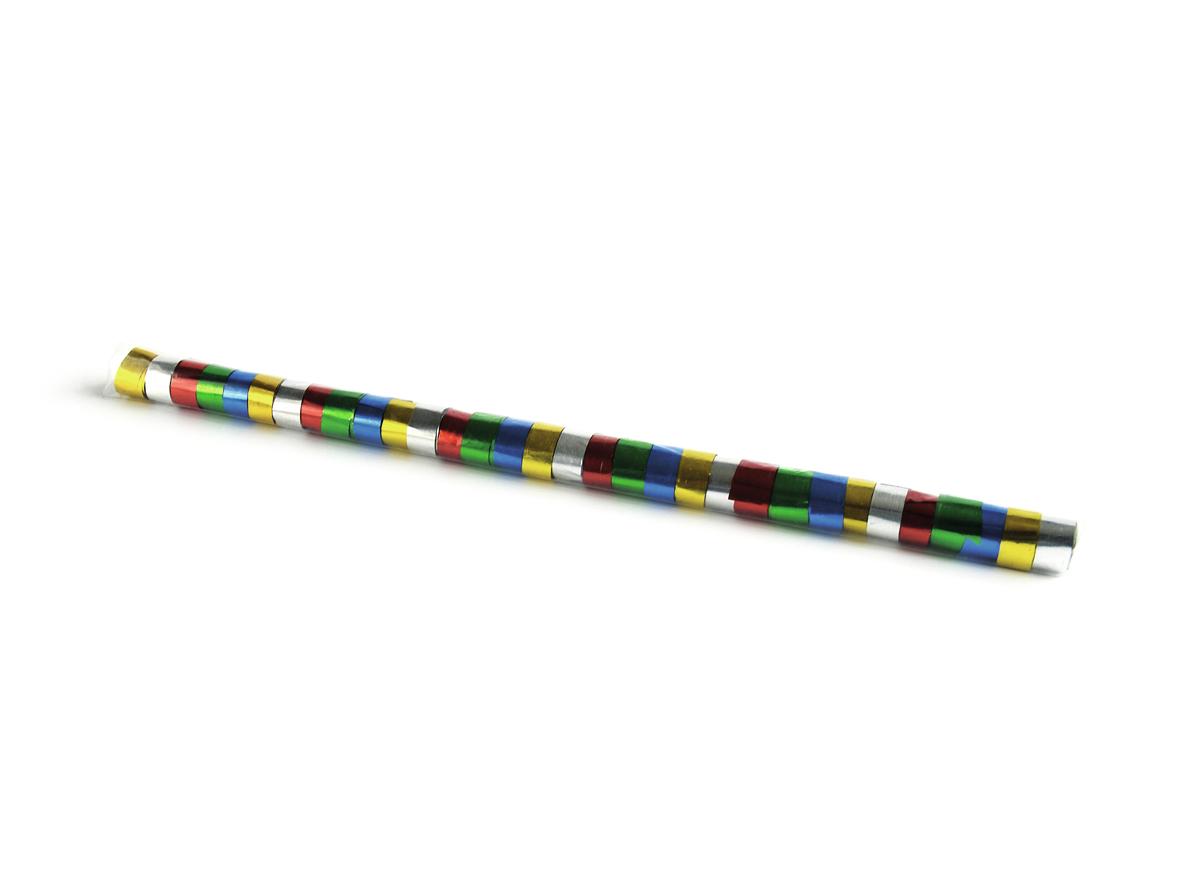 Tcm Fx metalické konfety-serpentýny 10mx1.5cm, barevné, 32x