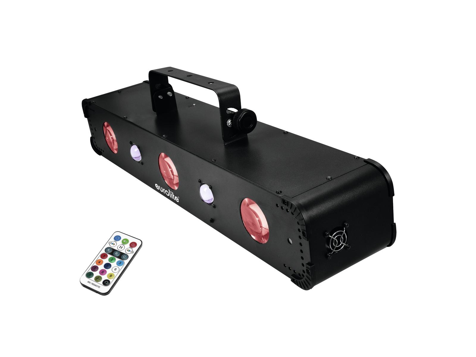 Eurolite LED Multi FX Hybrid, 2x RG laser, 3x paprskový efeklt, UV, DMX