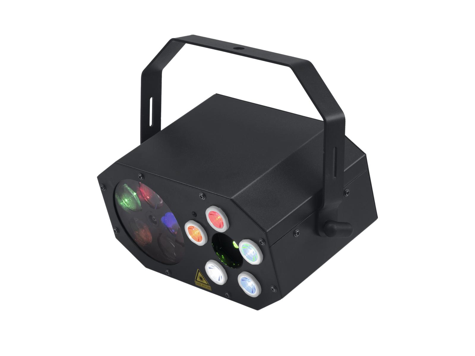 Eurolite LED Mini FE-5 Hybrid, RG Laser, Goboflower a Strobo