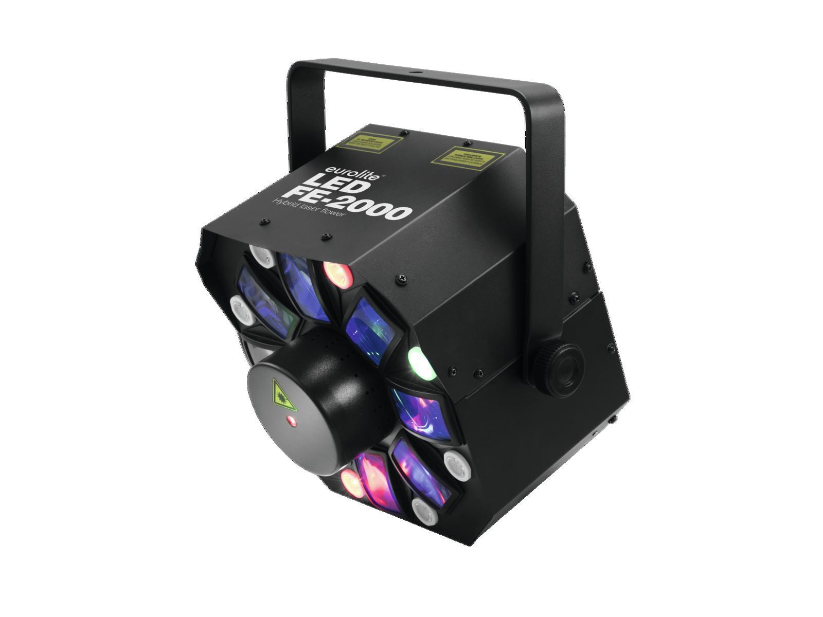 Eurolite LED FE-2000 Hybrid, RG laser, paprskový efekt, barevné Strobo, DMX