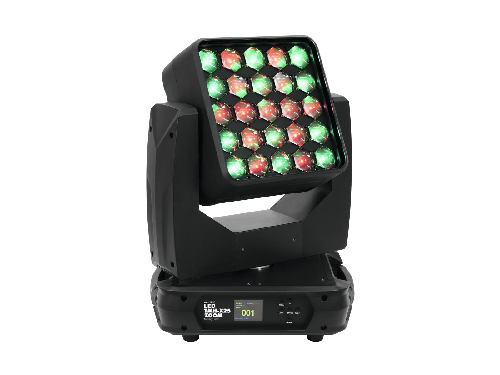 Eurolite LED TMH-X25 otočná hlavice Zoom, 25x12W RGBW LED, DMX