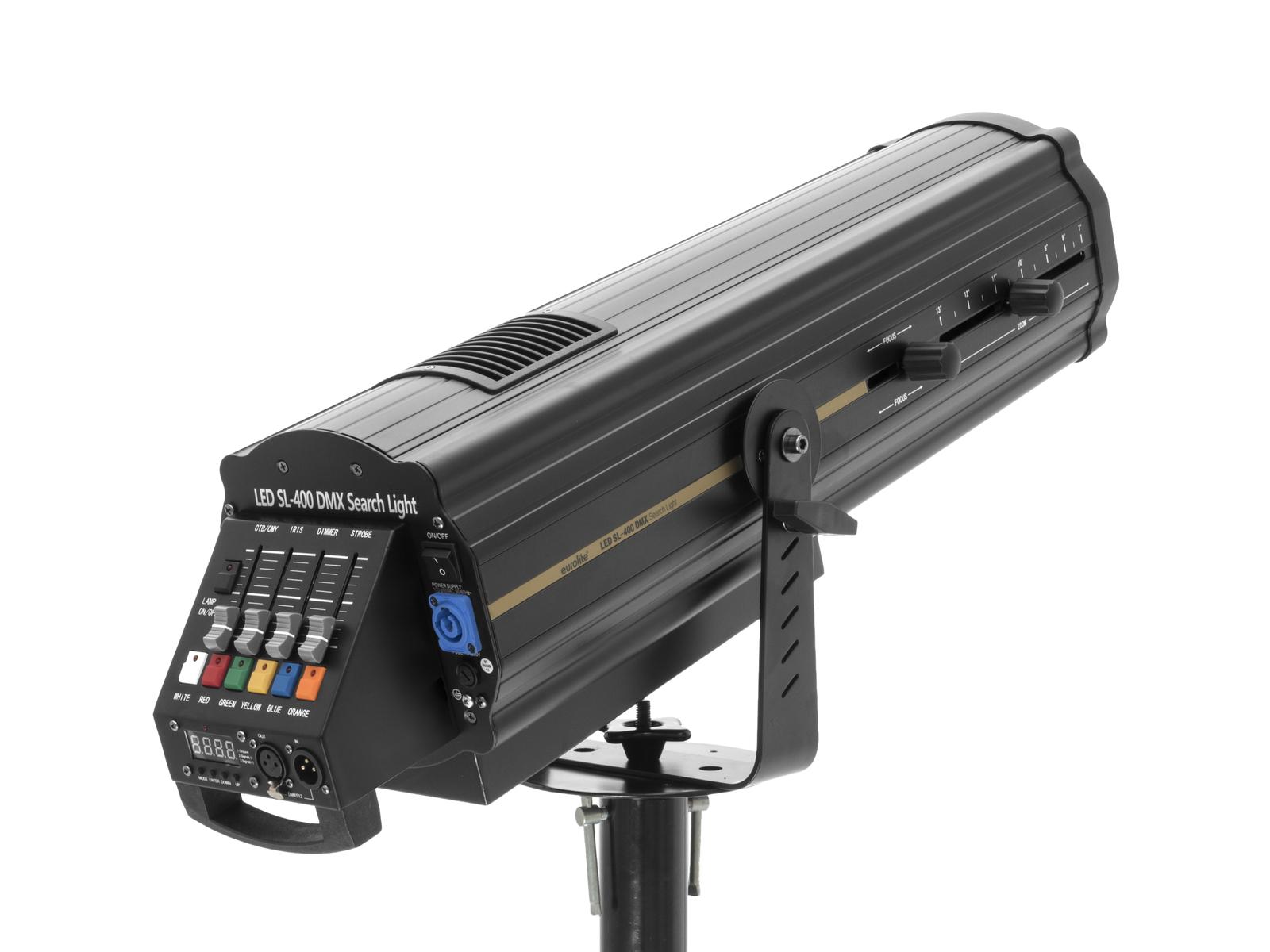 Eurolite LED SL-400 DMX hledáček, 1x 300W LED WW, 3500K