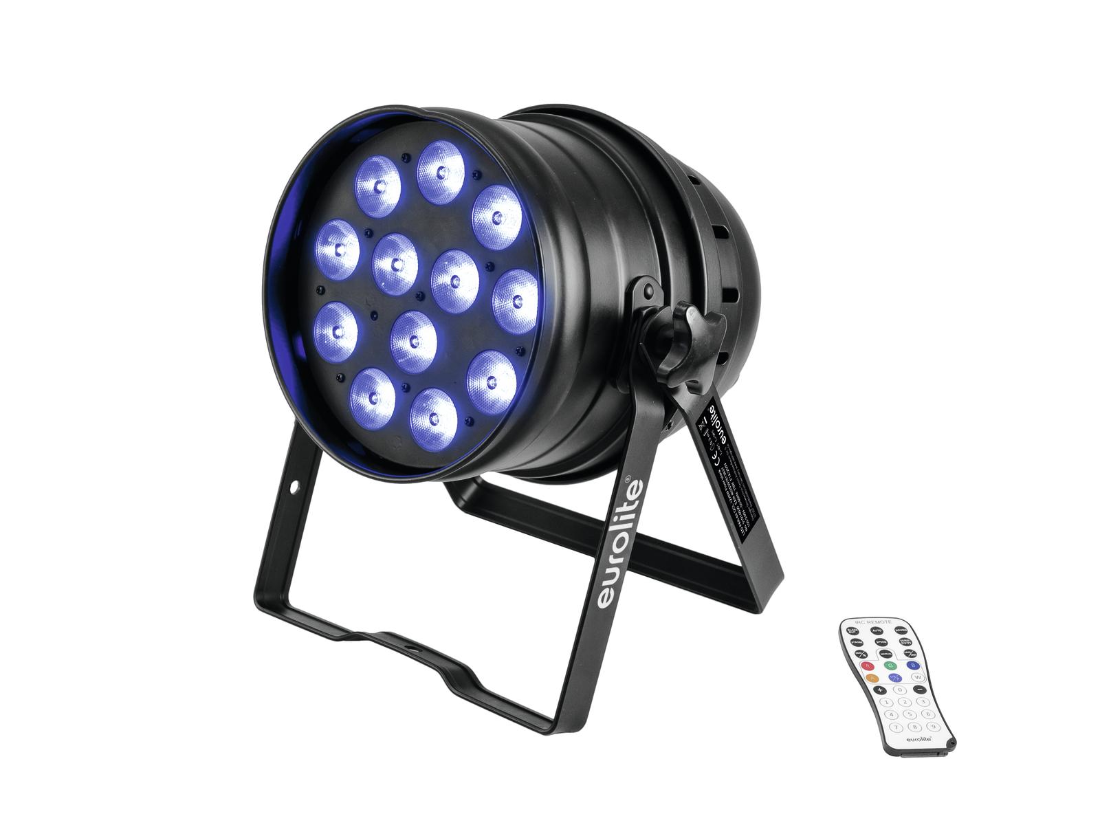 Eurolite LED PAR-64, 12x8W QCL, Floor černý