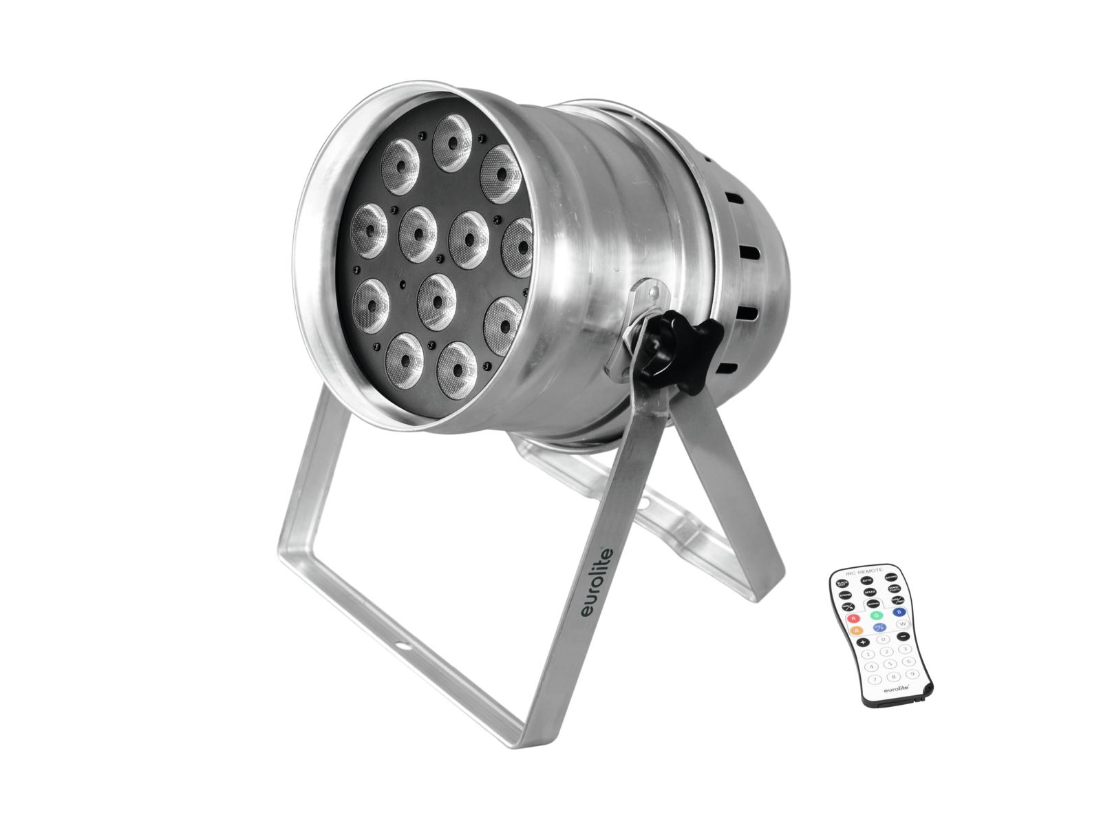 Eurolite LED PAR-64, 12x8W QCL, Floor stříbrný