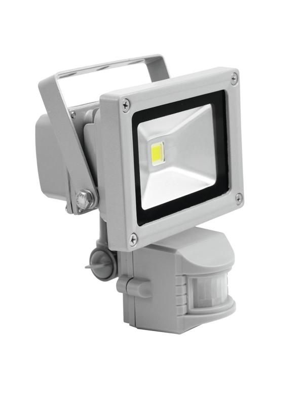 Eurolite LED reflektor, 1x 10W COB 3000K 120, IP44, pohybové čidlo