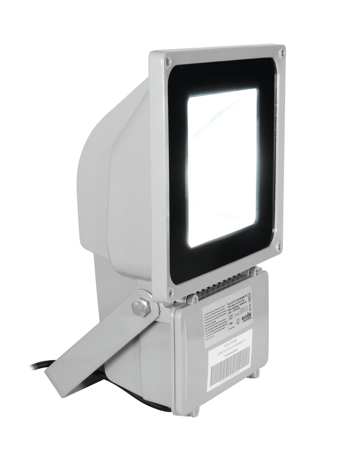 Eurolite LED reflektor IP FL-100, 1x 100W COB, 3000K, 120°, IP65