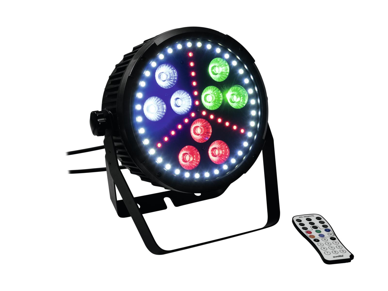 Eurolite LED SLS-10 Hybrid reflektor, 9x10W HCL, 36x0,5W bílá, 18x 0,2 RGB