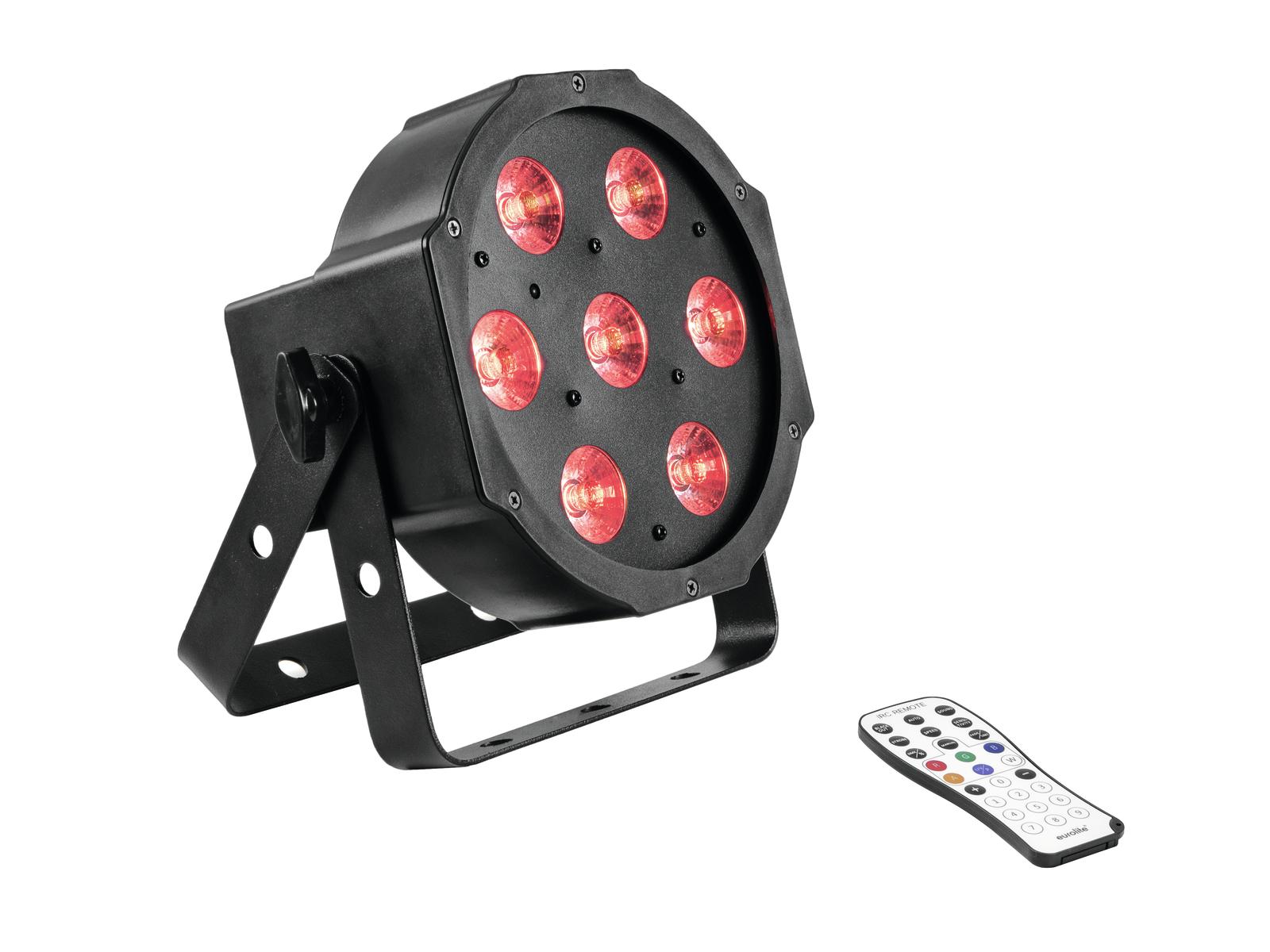 Eurolite LED SLS-7 DMX, 7x 10W TCL LED, IR, reflektor