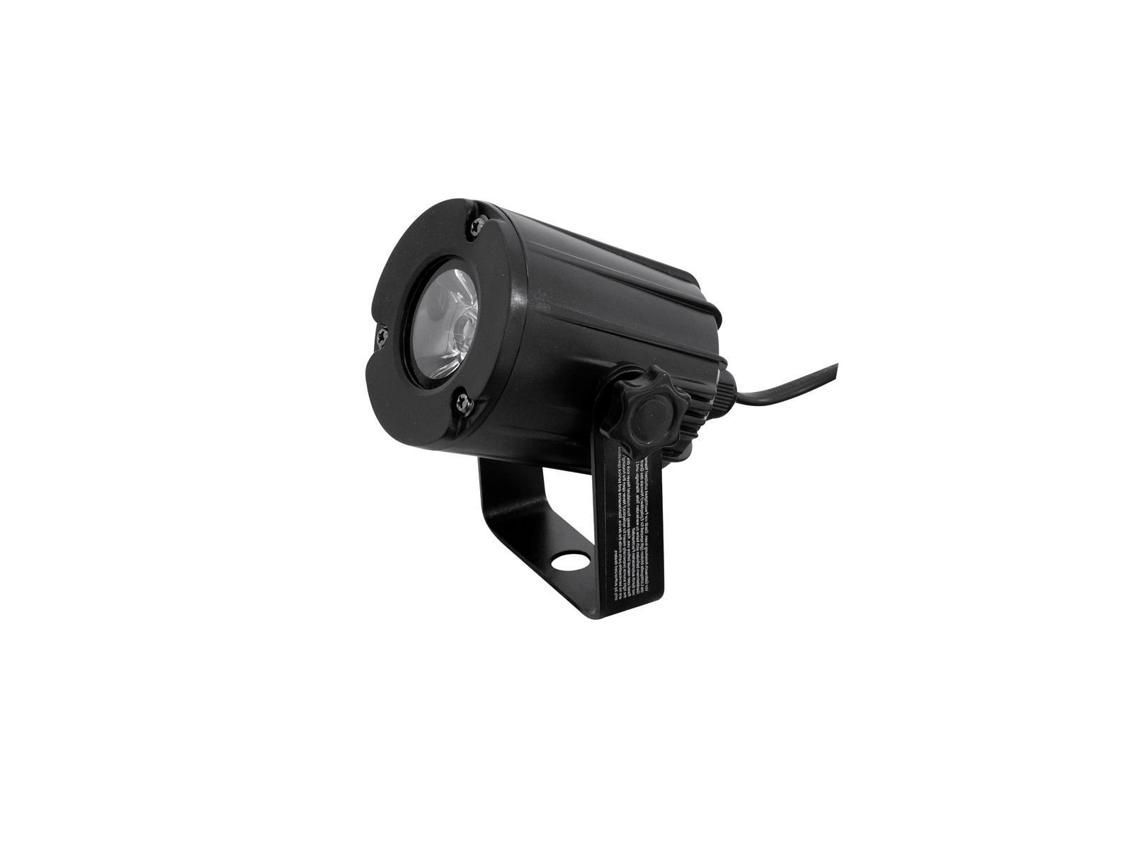 Eurolite LED spot 3W, 3200K, 6°, černý, bodový reflektor