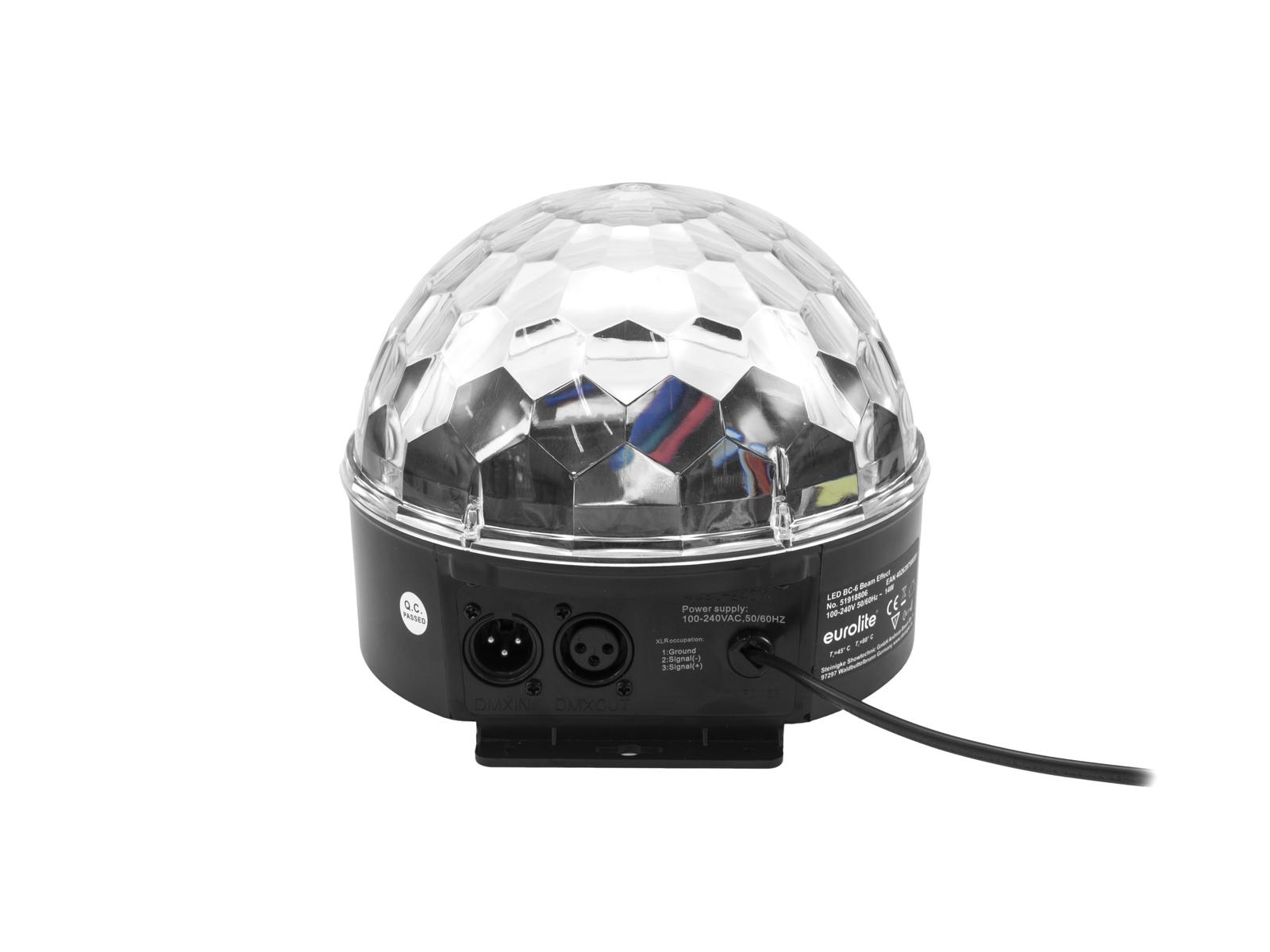 Eurolite LED Half Ball 6x 1W RGBAW DMX, paprskový efekt
