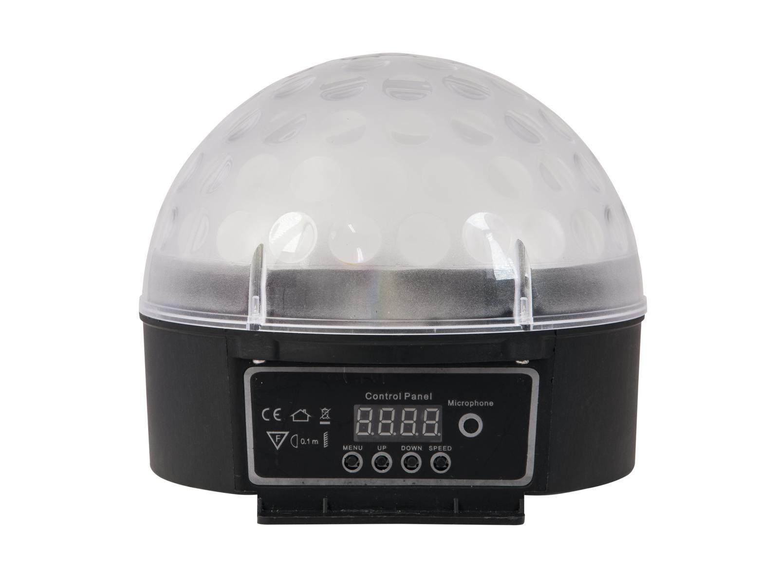 Eurolite LED Half Ball 6x 1W DMX, IR, paprskový efekt