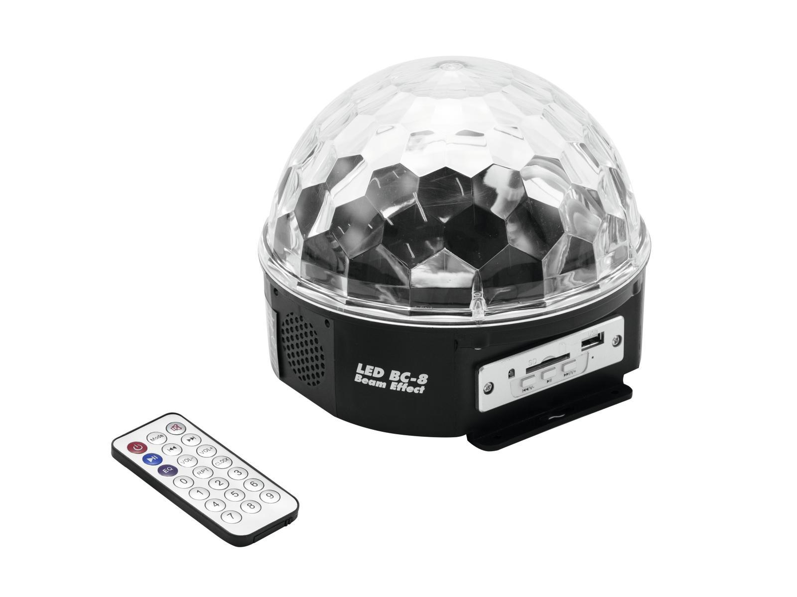 Eurolite LED Half Ball 5x 1W MP3 USB SD, paprskový efekt