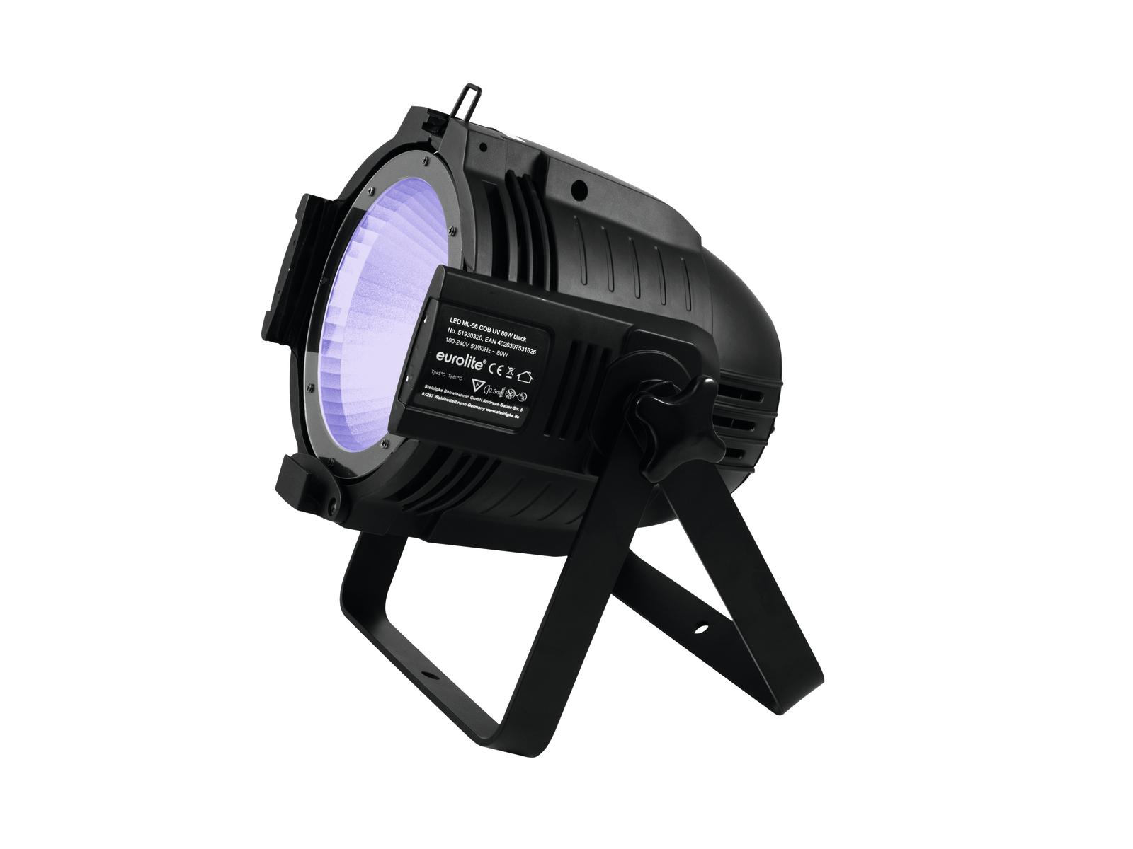 Eurolite LED ML-56 COB UV 80W Floor černý