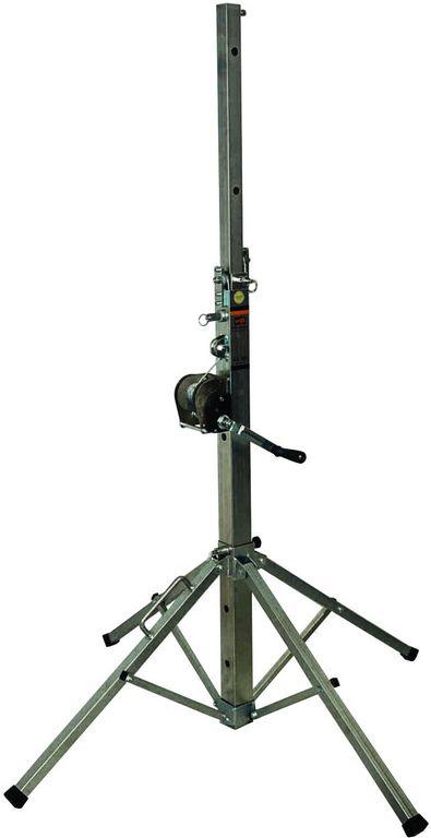VMB TE-034 teleskopický stativ, 380cm, 125kg, stříbrný