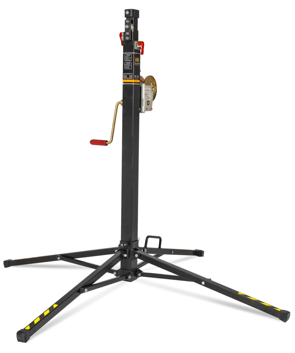VMB TE-034 teleskopický stativ, 380cm, 125kg, černý