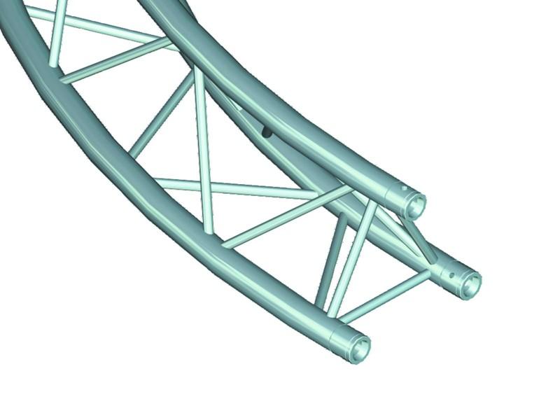 Deco lock DQ-3 kruhový díl, d=2 m, 90°, vrcholem vzhůru